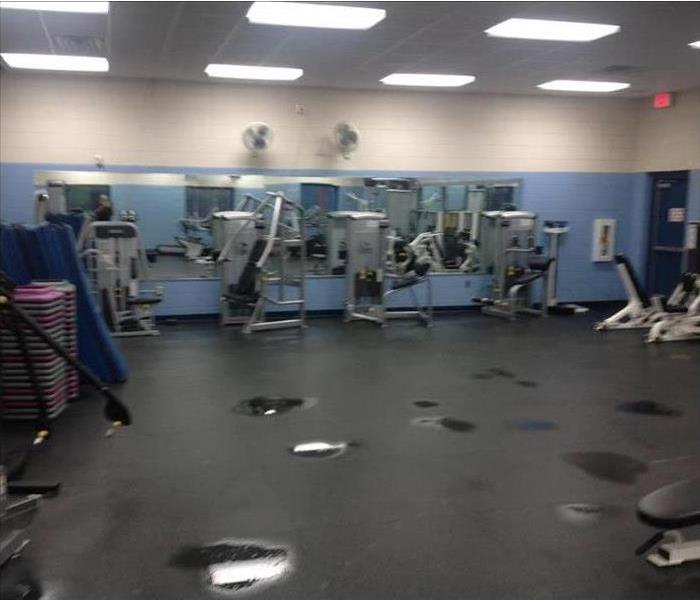 Fitness Center and Water Puddles