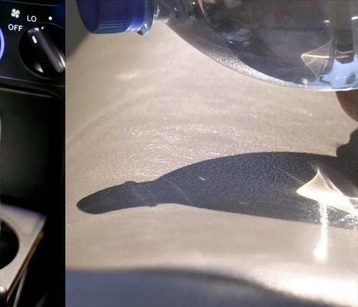 Fire Damage Can leaving a water bottle in a hot car start a fire?